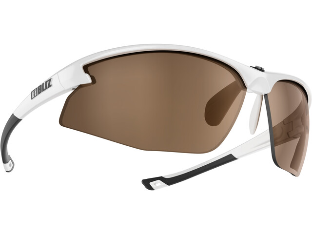 Bliz Motion M5 Okulary, shiny white /amber